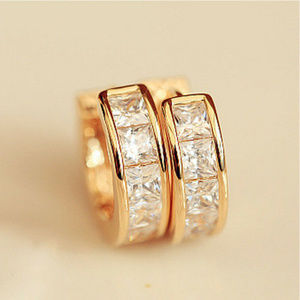 Other - Gold Stainless Steel Small Huggies Style Earrings